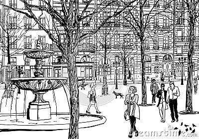 Imaginary square in Paris