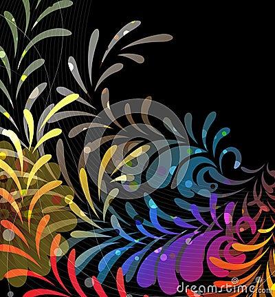 Imagination rainbow pattern