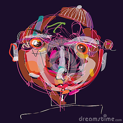 Imaginative kid portrait