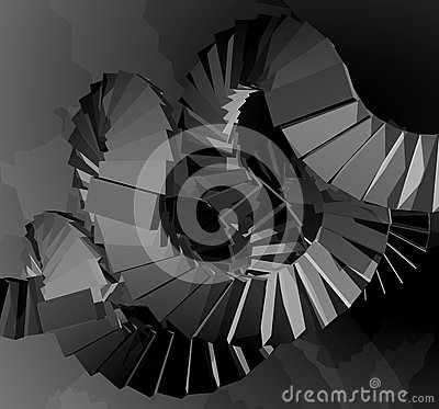 Free Imaginative Render Stairs Royalty Free Stock Photography - 49348787