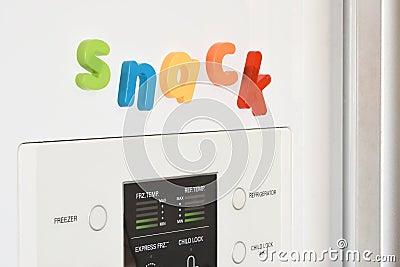 Imanes del refrigerador bocado foto de archivo imagen - Imanes para puertas ...