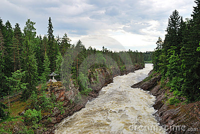 Imatra, Finland. River Vuoksa