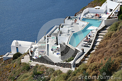 Imerovigli hotel, Santorini Editorial Photography