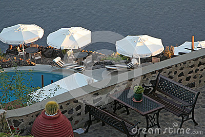 Imerovigli hotel, Santorini Editorial Stock Photo