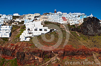 Imerovigli village at Santorini island, Greece