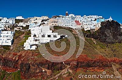 Imerovigli village at Santorini island, Greece