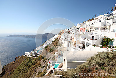 Imerovigli village, Santorini Editorial Stock Photo