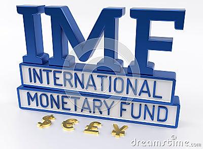 IMF - International Monetary Fund, World Bank - 3D Render.