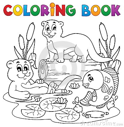 Immagine 3 di fauna del fiume del libro da colorare