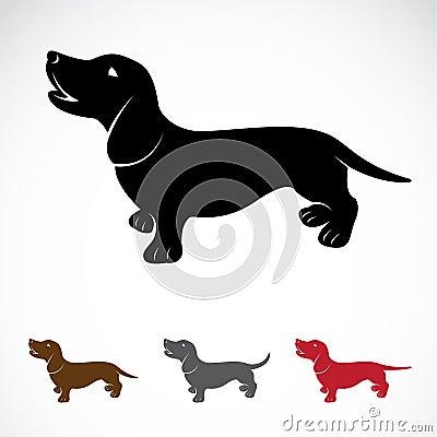 Immagine di vettore di un cane bassotto tedesco immagini - Colorazione immagine di un cane ...