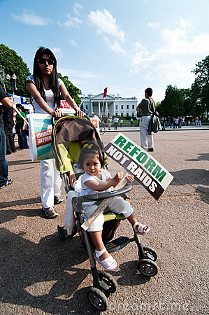 Immigrant Families March to White House Editorial Photo