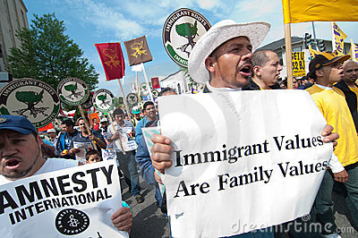 Immigrant Values Are Family Values Editorial Stock Photo