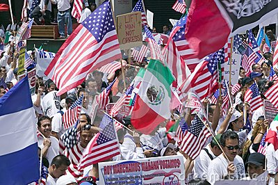 Immigrants participate in march for Immigrants Editorial Stock Image