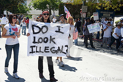 Immigration march Editorial Stock Image