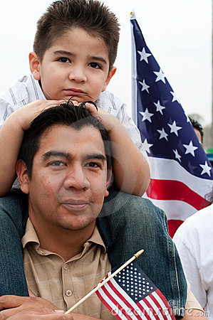 Free Immigration Rally In Washington Stock Photography - 13544782