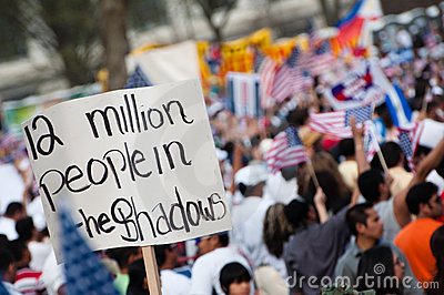 Immigration Rally in Washington Editorial Stock Image