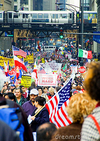 Immigration Rights Editorial Stock Image