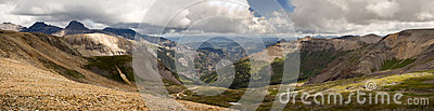 Imogene Pass Ouray Colorado Mountain Top Panoramic