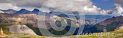 Imogene Pass Ouray Colorado Mountain Top Panoramic