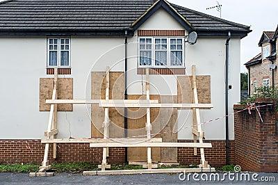 Impact Damaged House