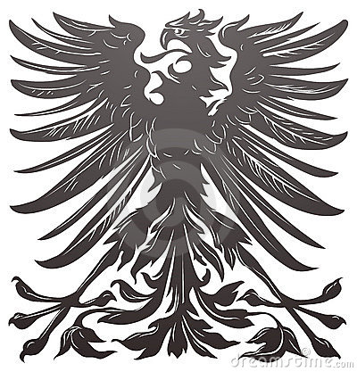 Imperial eagle design element