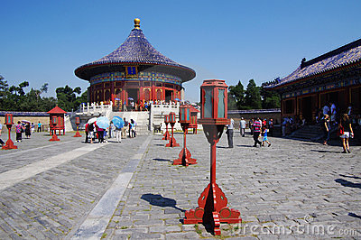 The Imperial Vault of Heaven in Temple of Heaven Editorial Stock Photo