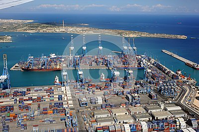 Import export port and dockyard  Editorial Stock Photo