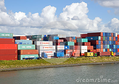 Import export containers Editorial Photo