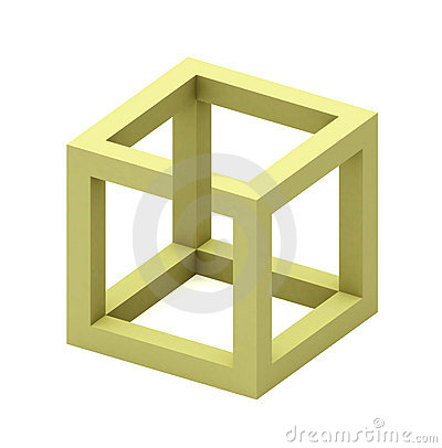 Free Impossible Cube Royalty Free Stock Image - 1181216