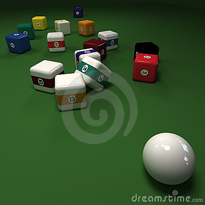 Impossible cubic billiard game