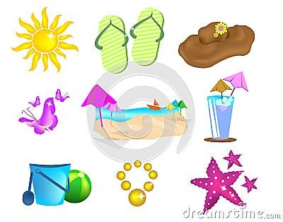 Imposti le icone di estate