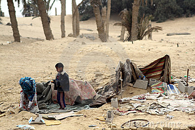 Poor Bedouin Child in Egypt Editorial Image