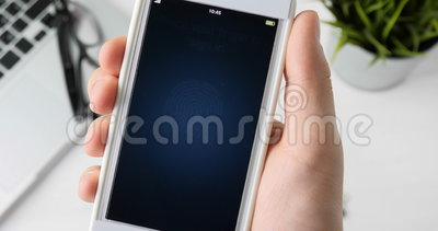 Impressão digital da exploração para verificar a identidade vídeos de arquivo