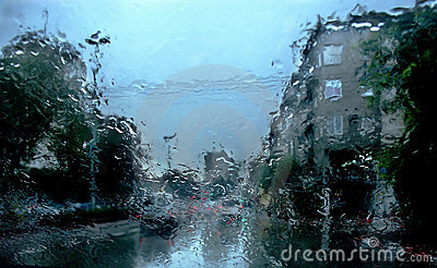 Impressions Of A Rainy Day Stock Photography