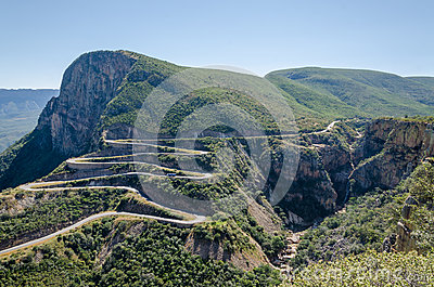 The impressive Serra da Leba pass in Angola