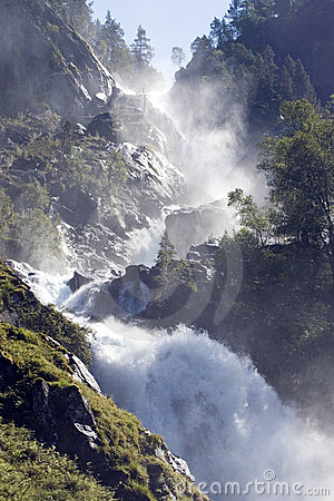 Impressive waterfall, Norway.