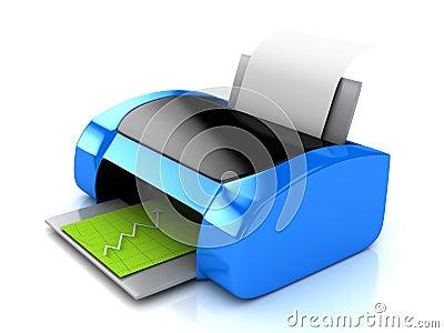 imprimante 3d bleue au dessus de blanc images stock image 17503704. Black Bedroom Furniture Sets. Home Design Ideas