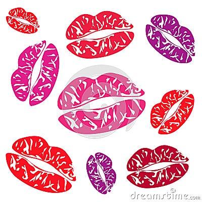 Imprint of the feminine lips
