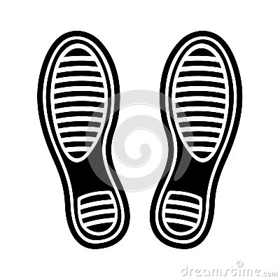 Imprint Shoes Vector Illustration