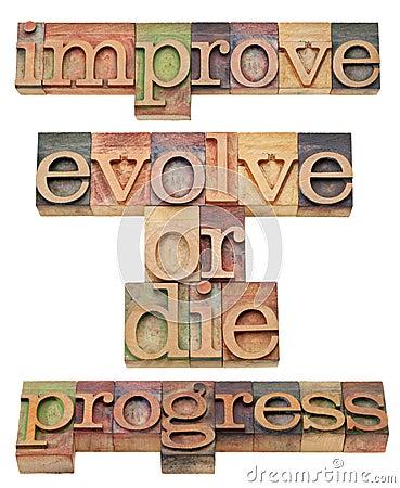 Improve, evolve or die