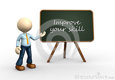 Improve your skill Stock Photo