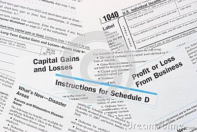 Impôt fédéral des produits IRS de formes