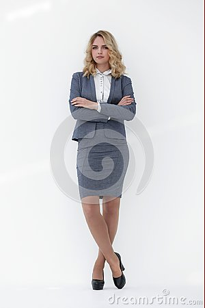 Free In Full Growth.confident Business Woman. Royalty Free Stock Image - 104378446