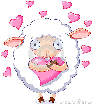 Free In Love Sheep Royalty Free Stock Images - 48878859