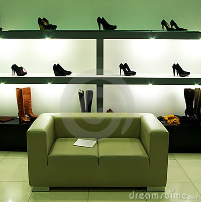 Free In Shoe Shop. Stock Photography - 12176802