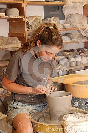 Free In The Pottery Studio Stock Images - 98269784