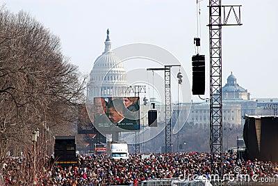 Inauguration of Barack Obama Editorial Stock Image