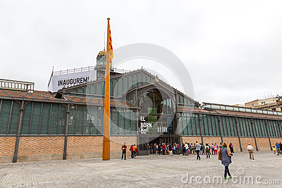 Inauguration Barcelona El Born CC Editorial Stock Image