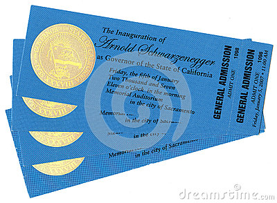 Inauguration Tickets Editorial Image