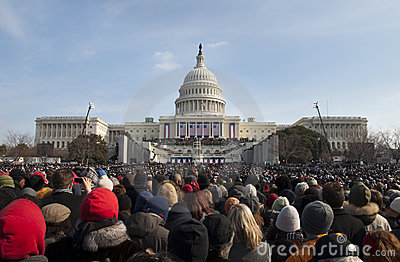 Inauguration at U.S. Capitol Editorial Stock Image